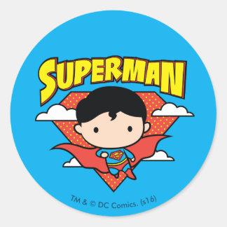 Adesivo Redondo Protetor e nome das bolinhas do superman de Chibi