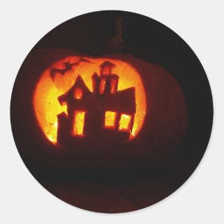 Adesivo Redondo Pumpkin_craft_for_Halloween