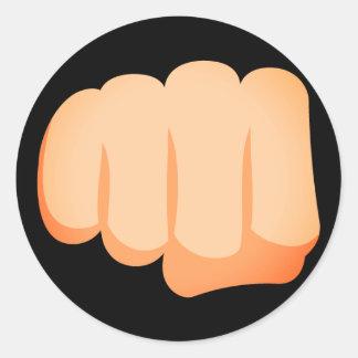 Adesivo Redondo Punho Emoji de Bro