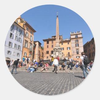 Adesivo Redondo Quadrado em Roma, Italia