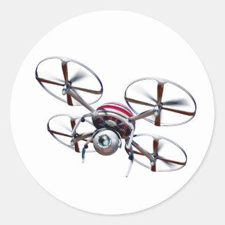 Adesivo Redondo Quadrocopter do zangão