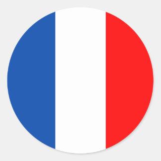 Adesivo Redondo Qualidade da bandeira de France