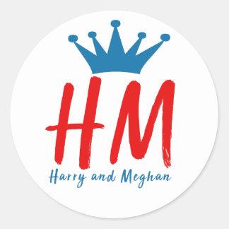 Adesivo Redondo Quando Harry encontrou Meghan