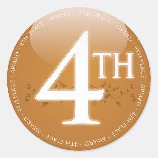 Adesivo Redondo Quarto prêmio do lugar (4o)