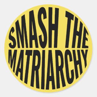 Adesivo Redondo Quebra o Matriarchy