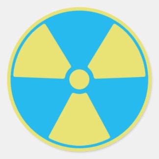 Adesivo Redondo Radioativo