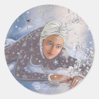 Adesivo Redondo Rainha da neve!