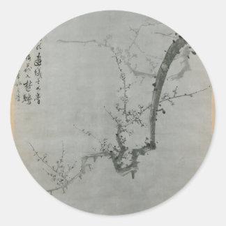 Adesivo Redondo Ramo da ameixa - Yi Yuwon