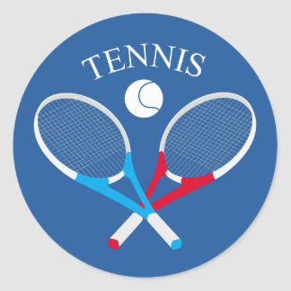 Adesivo Redondo Raquetes de tênis e bola de tênis