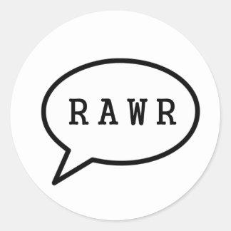Adesivo Redondo Rawr