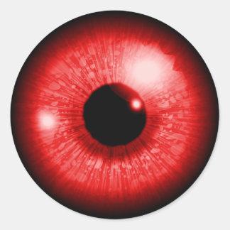 Adesivo Redondo Red Eye