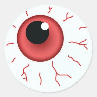 Adesivo Redondo Red Eye para o divertimento o Dia das Bruxas