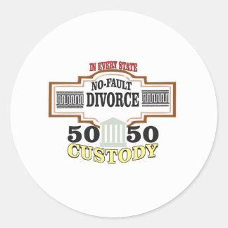 Adesivo Redondo reduza a custódia 50 50 automática dos divórcios
