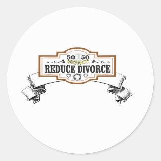 Adesivo Redondo reduza a custódia 50 do divórcio 50