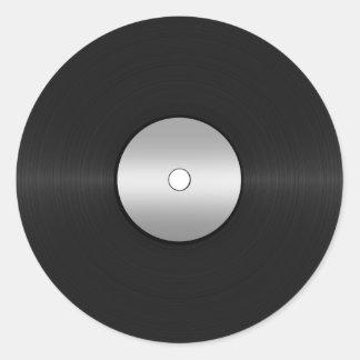 Adesivo Redondo Registro de LP do Vinil-Olhar