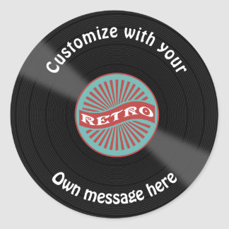 Adesivo Redondo Registro de vinil personalizado