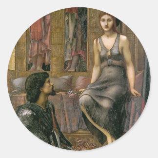 Adesivo Redondo Rei Cophetua e empregada doméstica de Edward - de
