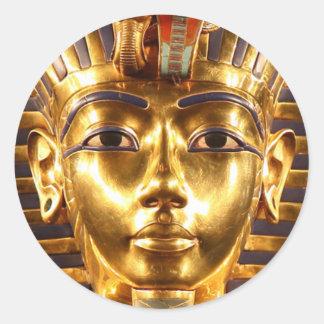 Adesivo Redondo Rei Tutankhamun, máscara do ouro