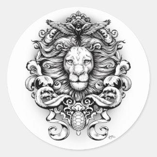 Adesivo Redondo Reino selvagem