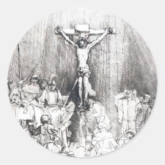 Adesivo Redondo Rembrandt 1653 cruzes do detalhe três
