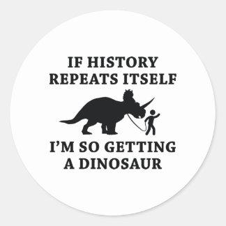 Adesivo Redondo Repetições da história