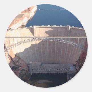 Adesivo Redondo Represa da garganta do vale e ponte, arizona