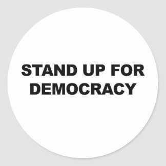 Adesivo Redondo Represente acima a democracia