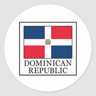 Adesivo Redondo República Dominicana