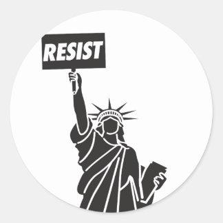 Adesivo Redondo Resist_for_Liberty