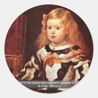 Adesivo Redondo Retrato do Infanta Maria Margarita