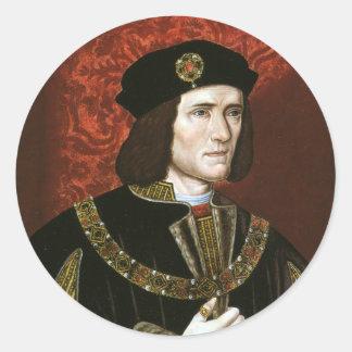 Adesivo Redondo Retrato do rei Richard III