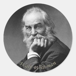 Adesivo Redondo Retrato essencial de Walt Whitman