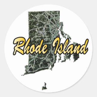 Adesivo Redondo Rhode - ilha