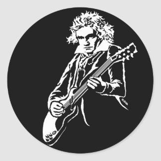 Adesivo Redondo Rocha de Beethoven!