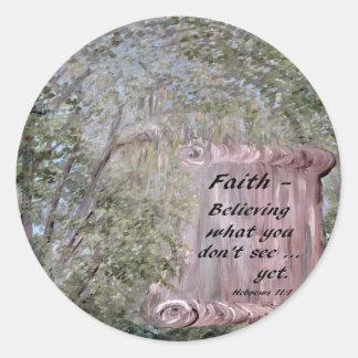 Adesivo Redondo Rolo da fé