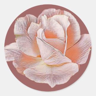 Adesivo Redondo Rosa pálido aumentou