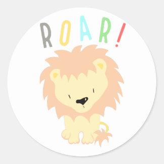 Adesivo Redondo Rugido do leão