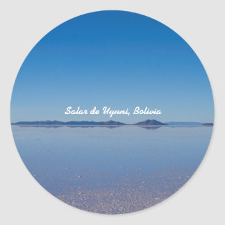 Adesivo Redondo Salt Lake em Salar de Uyuni, Bolívia