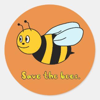 Adesivo Redondo 'Salvar as abelhas