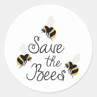 Adesivo Redondo Salvar as abelhas