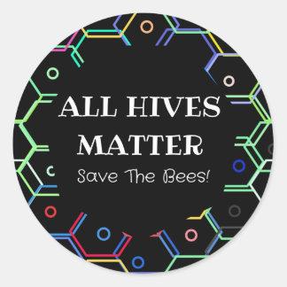Adesivo Redondo Salvar as abelhas - toda a matéria das colmeia