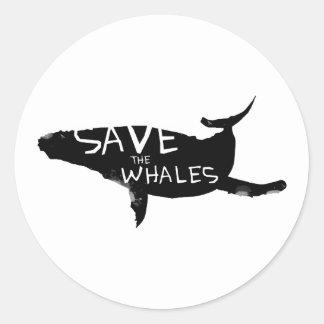 Adesivo Redondo Salvar as baleias