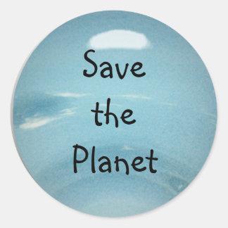 Adesivo Redondo Salvar o planeta