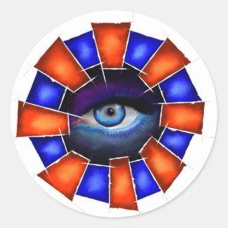 Adesivo Redondo Salvenitus - olho de observação