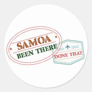 Adesivo Redondo Samoa feito lá isso