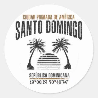 Adesivo Redondo Santo Domingo
