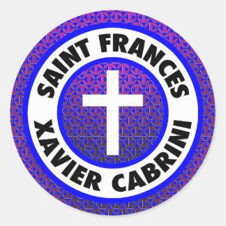 Adesivo Redondo Santo Frances Xavier Cabrini