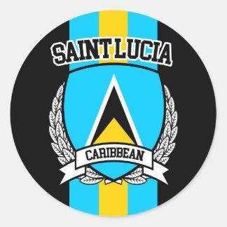 Adesivo Redondo Santo Lucia