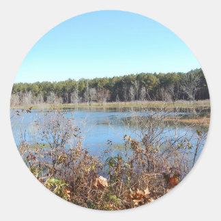 Adesivo Redondo Santuário de pássaro do lago sams