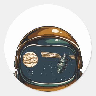 Adesivo Redondo satélite da NASA e a lua